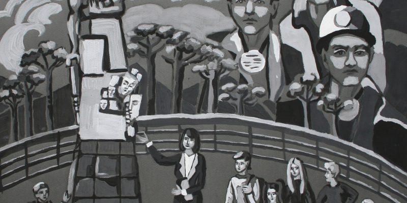 Рассохина Ирина, 14 лет.Наша память о погибших шахтёрах, бум., гуашь. преп. Горюткина Ж.В.ЦДШИ