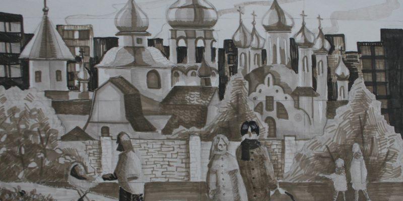 Свиридова Екатерина_14 лет_Прогулка вокруг храма_бум маркеры_пр Чеснакова ЛА