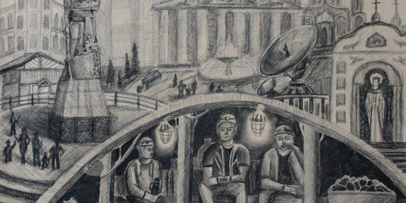 Хабибулин Тимур, 15 лет. Уголь для жизни, бум., уголь, преп. Горюткина Ж.В.ЦДШИ